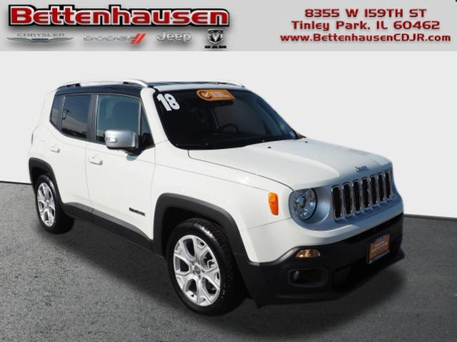 Jeep Renegade Limited >> Certified Pre Owned 2018 Jeep Renegade Limited Fwd 4d Sport Utility